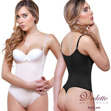 Vedette Thong Underbust Booster Bodysuit Spandex Shapewear Pushup Breasts Shaper