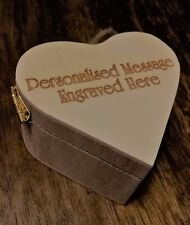 Personalised Keepsake Heart Shaped Box Laser Engraved Small
