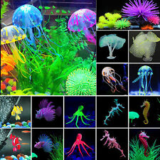 Artificial Synthetic Coral Jellyfish Octopus Fish Tank Aquarium Ornament Decor
