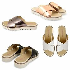 WOMENS LADIES DOLCIS CHUNKY CLEATED SOLE PLATFORM OPEN TOE FLAT SANDALS SHOES