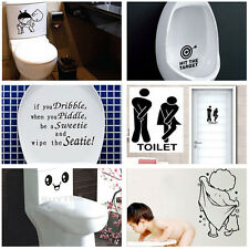 New Durable Bathroom Toilet Decoration Seat Art Wall Stickers Decal Home Decor