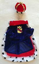 King Dog Costume - XS - Shirt Cape Crown - Red/Blue - Halloween - Bootique - NWT