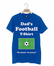 DADS FOOTBALL TEE FATHERS DAY GOAL XMAS BIRTHDAY GIFT PRESENT MENS T-SHIRT