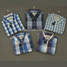 HOLLISTER NEW MENS PLAID SHIRT LONG SLEEVE BY ABERCROMBIE,NWT