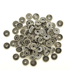 Tibet Silver Loose Spacer Beads Charms Jewelry Making Findings DIY Beads 100pcs