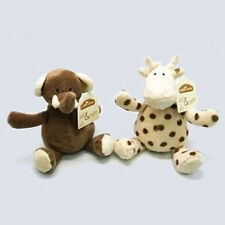 Elli and Raff Soft Plush Toy Set Cream And Brown Child's Elephant & Giraffe Toys
