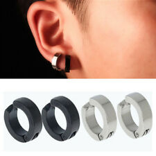 Women Punk Men Stainless Steel Cuff Hoop Earrings Non-Piercing Clip On Ear Studs