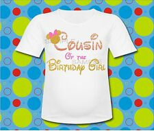 Gold Chevron Cousin of the Birthday Girl T Shirt Gold Mickey t shirt all sizes