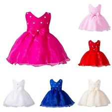 NEW Baby Girl Flower Wedding Party Christening Gown Formal Toddler Tutu Dress