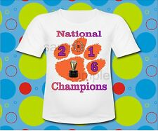 Youth Sizes Clemson Tigers 2016 National Champions T Shirt Clemson Tigers shirt