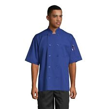 South Beach Short Sleeve Chef Coat Royal Sizes XS-2XL, Uncommon threads 0415