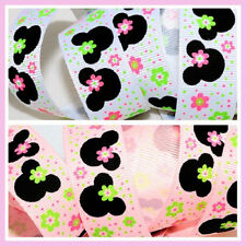 10 Y 7/8 Minnie Daisy Flower Grosgrain Ribbon U-Pick