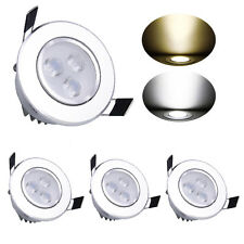3W LED Ceiling Recessed Downlight Fixture Lamp Spot Light Bulbs & Free Driver