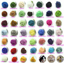 10g/bag Wool Corriedale Needlefelting Top Roving Dyed Spinning Wet Felting Fiber