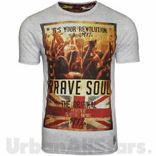 Mens Brave Soul T Shirt Spirit Union Jack GB UK Print Graphic Short Sleeve Tee