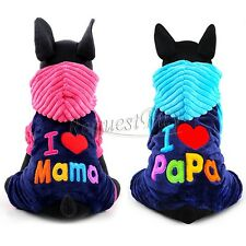 Winter Casual Fleece Pet Dog Clothes Warm Hoodie Coat Jacket Clothing For Dog