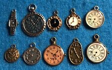 Charm Watch Clock Charm Time Charm Pocket Watch Antique Silver / Bronze Charms
