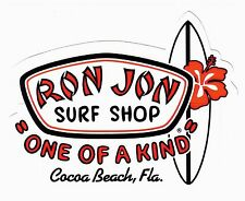 "Ron Jon Surf Shop ""OOAK"" Cocoa Beach FL Sticker Florida Flower Surfboard"