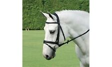Passier Aquarius Snaffle Dressage Bridle w/Flash - Black - Horse or Warmblood