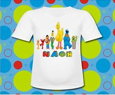 Personalized Sesame Street T Shirt Birthday T shirt Sesame Characters All Sizes