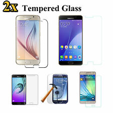 2x Anti Scratch Tempered Glass Screen Protector for Samsung Galaxy S6 S5 A7 A5