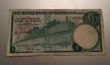 The Royal Bank of Scotland One Pound Note 1970 A46 910934