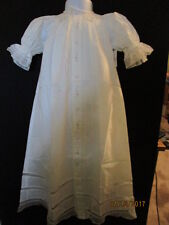 WHITE NEW HEIRLOOM SMOCKED LONG DAYGOWN & SLIP SET EMBROIDERY LACE BABY JEN