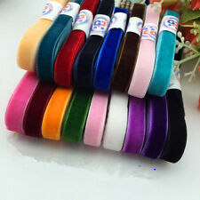 "Soft 5 yards 3/8"" 9mm Velvet Ribbon Bows Colorful Craft Decoration Ornament Art"