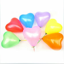 200pcs Colorful Heart Shaped Latex Balloons Wedding Birthday Party Decoration GC