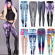 Womens Yoga Leggings High Waist Sports Fitness Trouser Workout Athletic Clothes