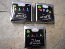 10 ct  LED Battery Operated  Christmas Lights Battery Operated Multi color
