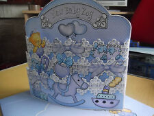 Handmade Card Topper.- Pull Out BABY BOY. NEW BABY. NURSERY 2 sizes or Card