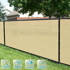 Customized Privacy Screen Fence Windscreen Garden Fabric Shade Beige 4' FT 5-50