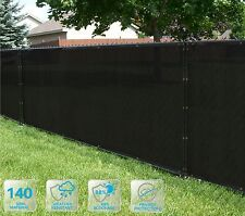 Customized Privacy Screen Fence Windscreen Garden Fabric Shade Black 4' FT 5-100