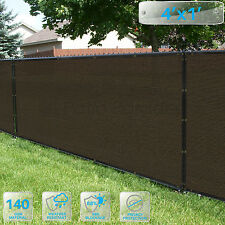 Customized Privacy Screen Fence Windscreen Garden Fabric Shade Brown 4' FT 5-100