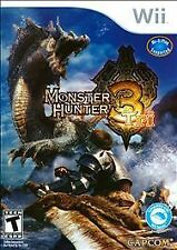 Monster Hunter Tri 3 (Nintendo Wii) GAME MANUAL INCLUDED WIFI Supported