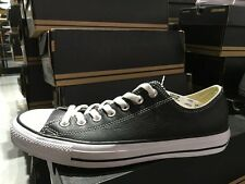 Converse Chuck Taylor All Star Leather Black Classic Sneakers Shoes 132174C