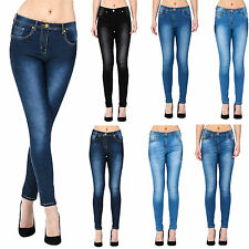 WOMENS LADIES FASHION SKINNY FIT DENIM JEANS/JEGGINGS SIZES 6/8/10/12/14/16/18