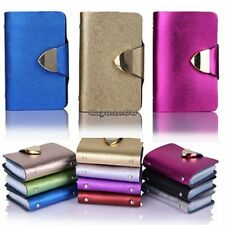Synthetic Leather Business Case Wallet ID Credit Card Holder Purse 26Cards CaF8
