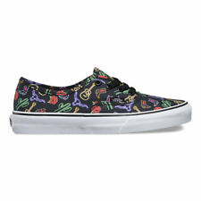 VANS AUTHENTIC NEON LIGHTS WESTERN BLACK MENS CASUAL SKATEBOARD SHOE CLEARANCE