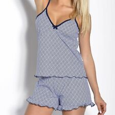 "Womens Girls Shorts and Vest Top 2- Piece ""Sabina""  Summer Pyjama Set  Nightwear"
