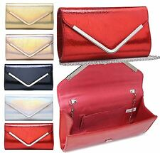 WOMENS EVENING CLUTCH SNAKESKIN EFFECT PARTY SMALL BAG SHOULDER PURSE GLAM BAG