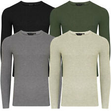 New Mens Dissident Scout Crew Neck Knitted Long Sleeve Jumper Top Size S-XXL