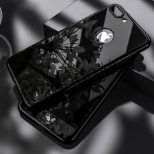 360 Full Hybrid Hard Cover Metal Mirror Temper Glass For iPhone 7 6 6S Plus Case