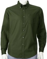 NWT Croft & Barrow Solid Button-Down Rosin Green Shirt Men's Big & Tall LT XLT