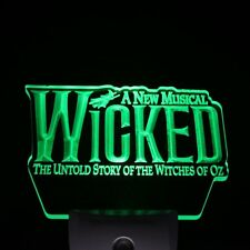 Wicked The Musical Bar Day/ Night Sensor Led Night Light Sign