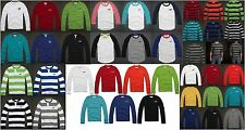 HOLLISTER BY ABERCROMBIE MENS LONG SLEEVE T-SHIRT HENLEY THERMAL TOP TEE HCO NWT