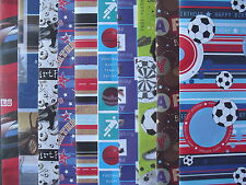 10 - 50 SHEETS OF GOOD QUALITY ASSORTED MALE BIRTHDAY WRAPPING PAPER