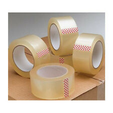 PACKING PARCEL 2 4 6 12 36 Low Noise TAPE CLEAR 48mm x 66M Rolls BOX SEALING