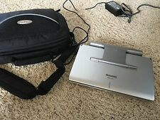 """Silver Panasonic DVD-LS91 Portable DVD Player 9"""" Gently Used + Black Case"""
